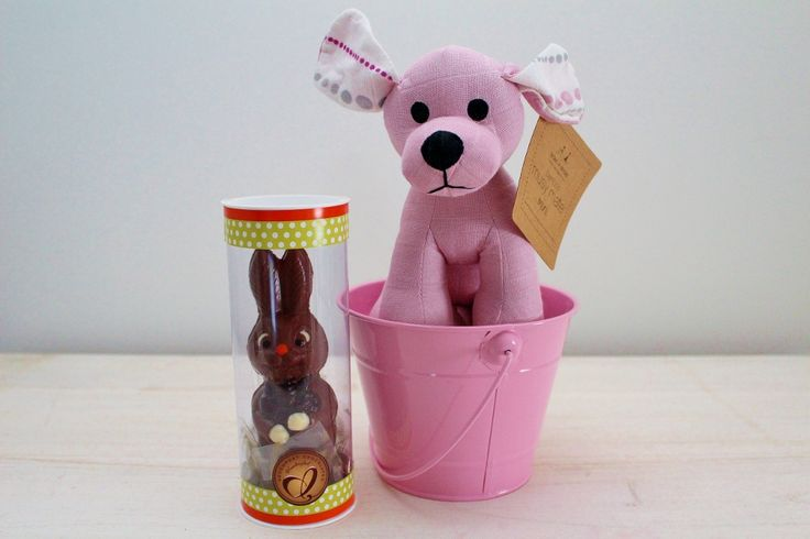30 best easter eggs gift hampers images on pinterest chocolate mr bunny chocolate easter egg pink puppy soft toy a gift for a girl negle Image collections