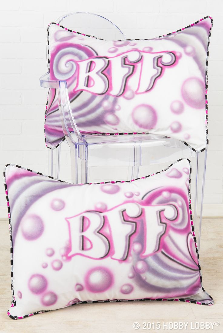 Grab your airbrush gun and your best gal pal, and whip up a pair of BFF-approved pillowcases!