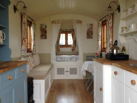 Inside Cute Little Gypsy Caravan Tiny House Interiors