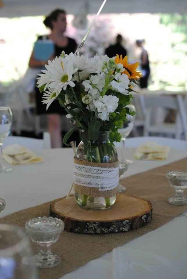 Simple Mason Jar Centerpiece Ideas : Best rehearsal dinner centerpieces decorations images