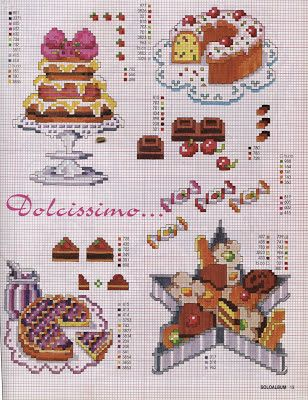 Punto croce - Schemi Gratis e Tutorial: Schemi dolci e torte a punto croce