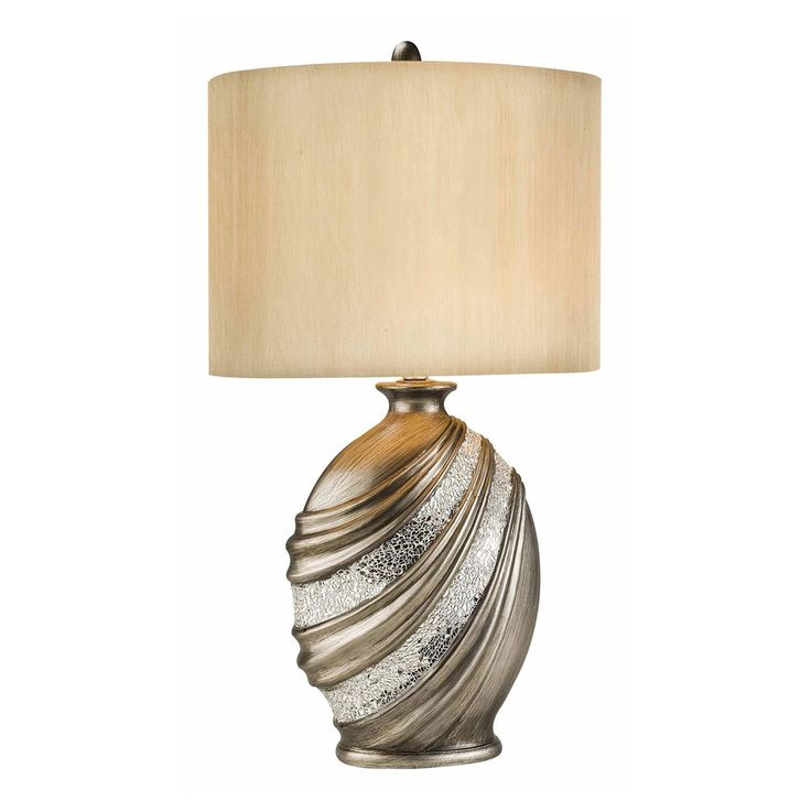 Ore international k 4218t silver decorative table lamp 115