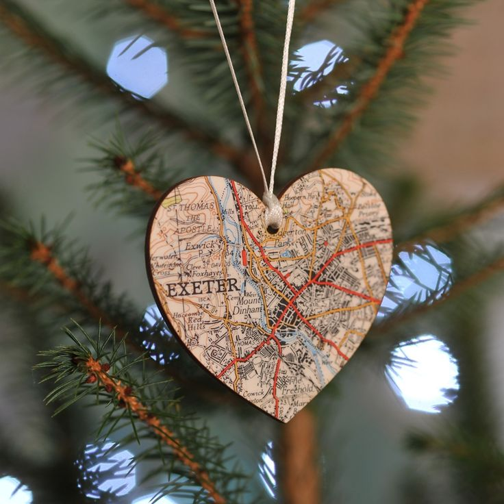 Bespoke map personalised Christmas tree decoration keepsake - Christmas in #HTFSTYLE