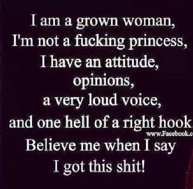Thank you! Girls kill me with that princess shit. I am grown and I don't want to be treated like a princess, I want to be treated like damn queen.