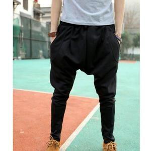 Homme pantalons sport sarouel version coréenne ... noir - Achat / Vente pantalon - Cdiscount