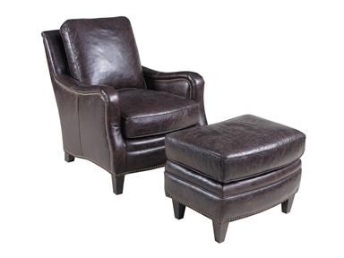 Hamilton Home Club Chairs Traditional Leather Club Chair And Ottoman Set