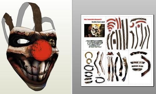Halloween Special - Twisted Metal - Needles Kane's Mask - by Paper Juke - - I think this is a cool acessorie for your Halloween Celebration. A 1/1 scale paper mask by French designer Paper Juke.