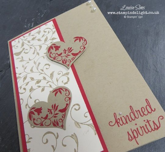 Stampin Up First Sight Valentines card - suitable for anniversaries or weddings too.