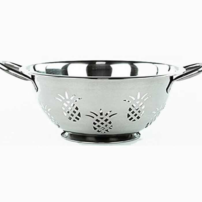 Imperial Home Pineapple Stainless Steel Colander Stainless Steel Colander Stainless Oneida Stainless