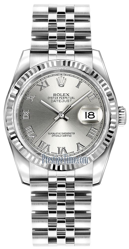 b0d432a1a4f Rolex Datejust 36mm Stainless Steel 116234 Rhodium Roman Jubilee | Time  Pieces | Rolex datejust, Rolex, Rolex watches