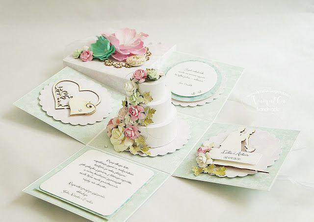Odskocznia vairatki: Box ślubny z tortem - pastelowo i romantycznie