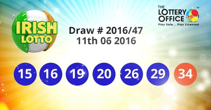 Irish Lotto winning numbers results are here. Next Jackpot: €5 million #lotto #lottery #loteria #LotteryResults #LotteryOffice