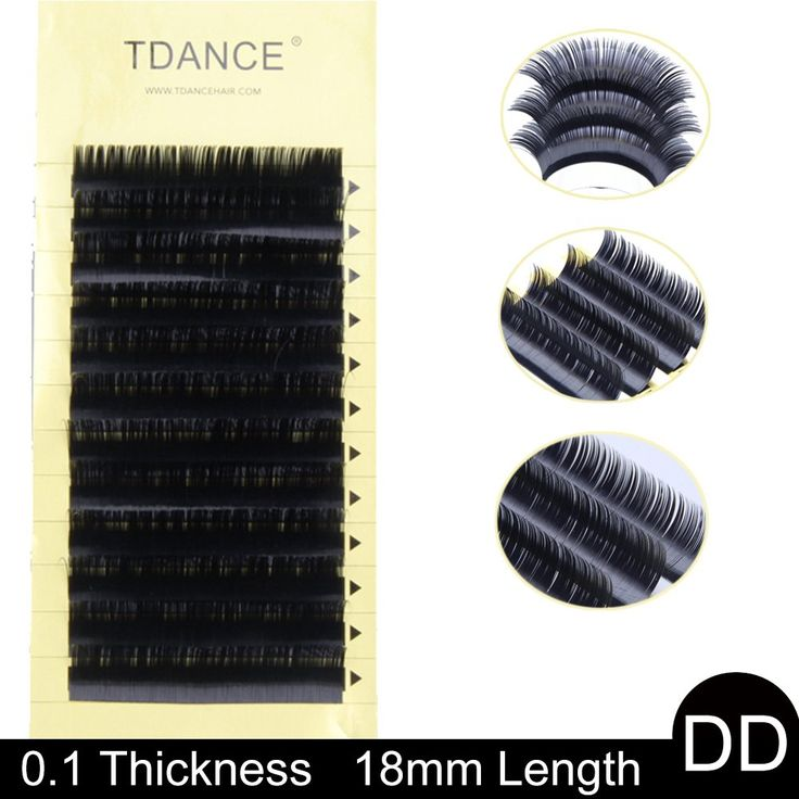 TDANCE Premium DD Curl 8-18mm Semi Permanent Individual Eyelash Extensions 0.05-0.25mm Thickness False Mink Silk Volume Lashes Extensions Professional Salon Use(DD,0.1,18mm). Permium Quality:Made With High Quality Korean False Mink Silk Eyelash Extensions,Soft,Light and Comfortable. Thickness:0.05/0.07/0.1/0.12/0.15/0.18/0.2/0.25mm. Professional Use:This is great product for Eyelash extension Professionals.It is perfect both for classic lashing and volume lashing. Curl:J B C CC D DD L...