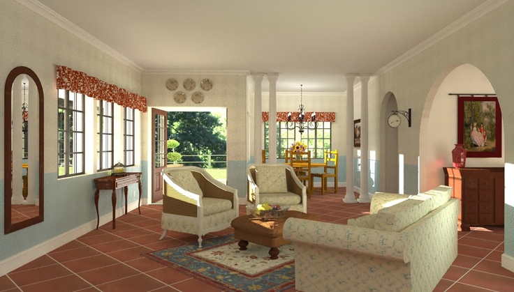 CastleView 3D Rendering Of French Country Style House, Interior