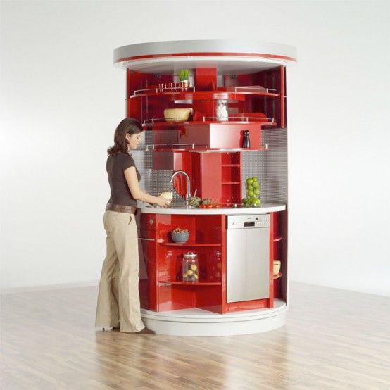 Another tiny kitchen idea. Everything you need is here. And it's in my color!