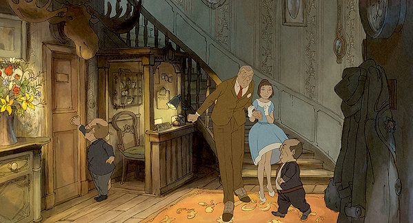 Animation still from L'Illusionniste (The Illusionist) by
