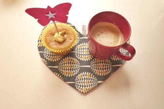 Candle mat desset mat tea mat tea coaster  Heart by NABISTYLE, $13.00