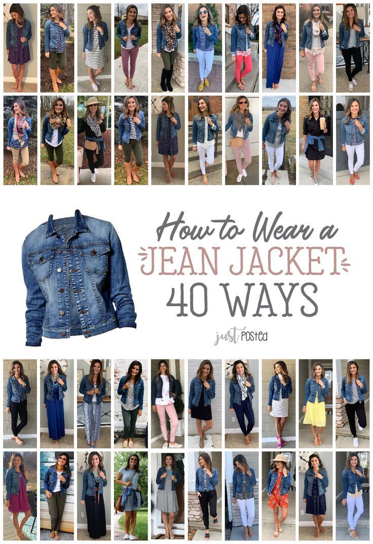40 Ways To Wear A Jean Jacket Womensfashion Denim Jeanjacket Womensfashionsp Jean Jacket Styles Jean Jacket Outfits Worn Jean Jacket