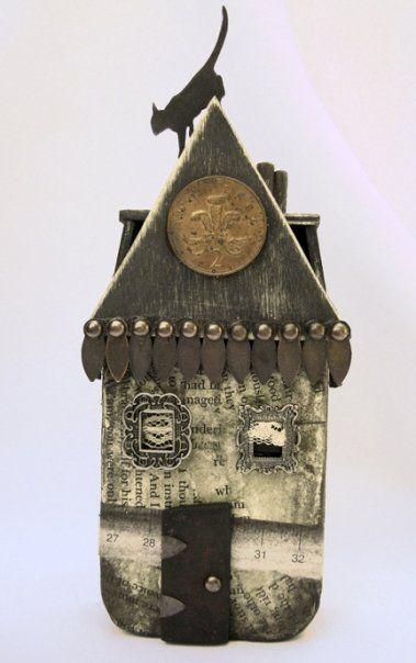 altered altoid tin - spooky house