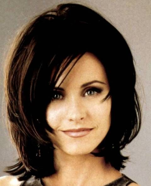 Cute Short Medium Layered Haircut Courteney Cox Arquette