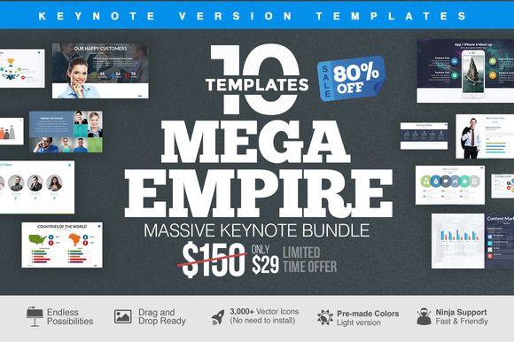 MEGA EMPIRE Keynote Bundle by Slidedizer on Creative Market