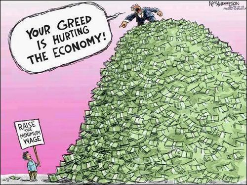 Image result for cartoons about income disparity