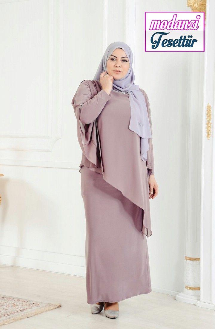 Sefamerve Buyuk Beden Abiye 2020 Buyuk Beden Tasli Abiye Elbise 4007 02 Vizon 2020 Elbise Moda Stilleri Elbise Modelleri