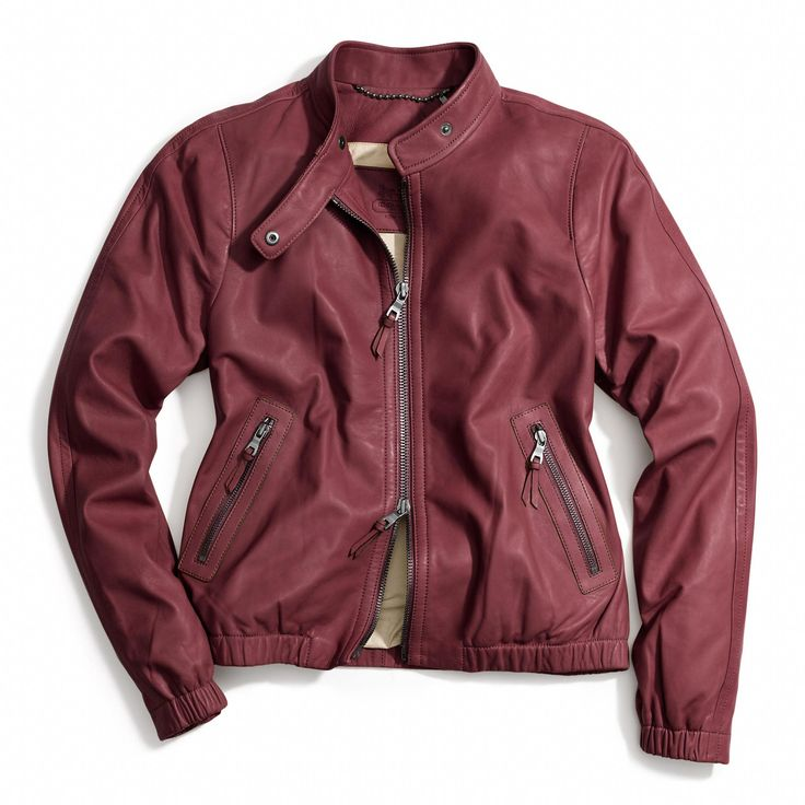 A great #Fall racer jacket from @Coach, Inc., Inc. #PTCtrends