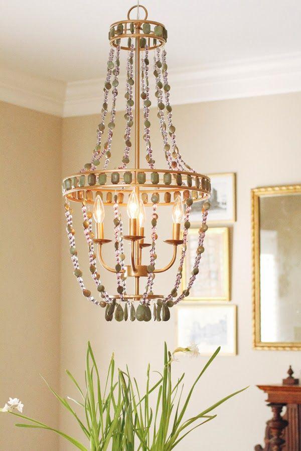 165 best lightingchandy ideas and diy images on pinterest ceiling diy painted beaded chandelier charmingincharlottespot aloadofball Gallery