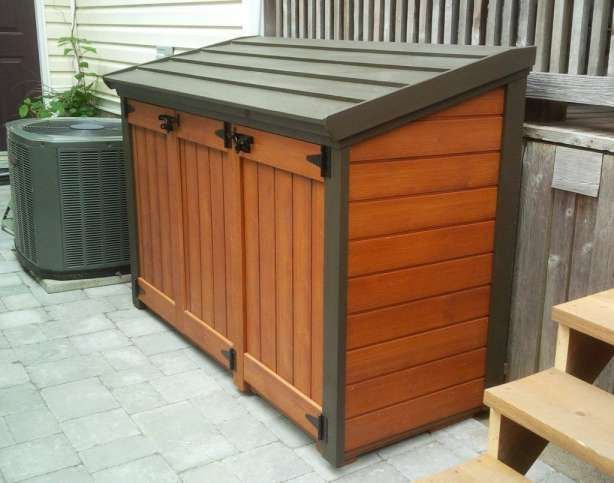 10 Exceptional Outdoor Wooden Garbage Bin Photos Patio Storage Outdoor Trash Cans Garbage Shed