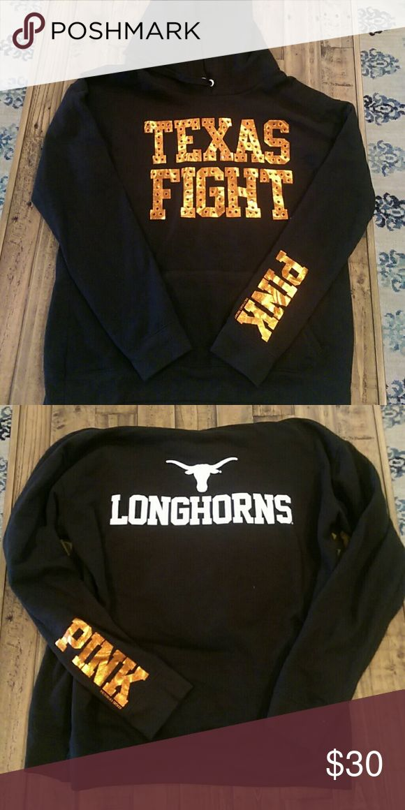 Longhorns Sweat Shirt This has never been worn and was purchased at the PiNK store in Victoria Secret. Very soft sweat shirt material inside and out. Go longhorns! PINK Other
