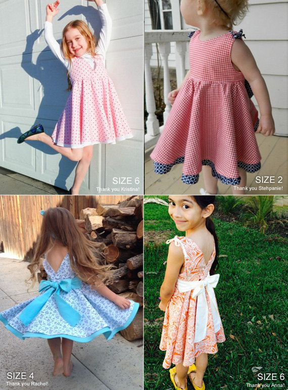 Adria full circle dress pattern - toddler dress sewing patterns - childrens pdf sewing pattern - INSTANT DOWNLOAD    - Sizes 2T, 3T, 4T, 5T, 6, 7,