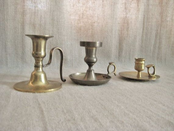 Eclectic Candle Holder Collection / Set of 3 by dewdropdaisies, $25.00