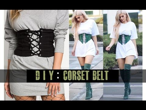 DIY Corset Belt (easy) - YouTube