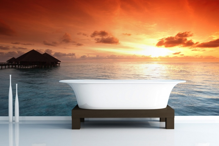Transport yourself to this tropical setting with this beautiful wallpaper.