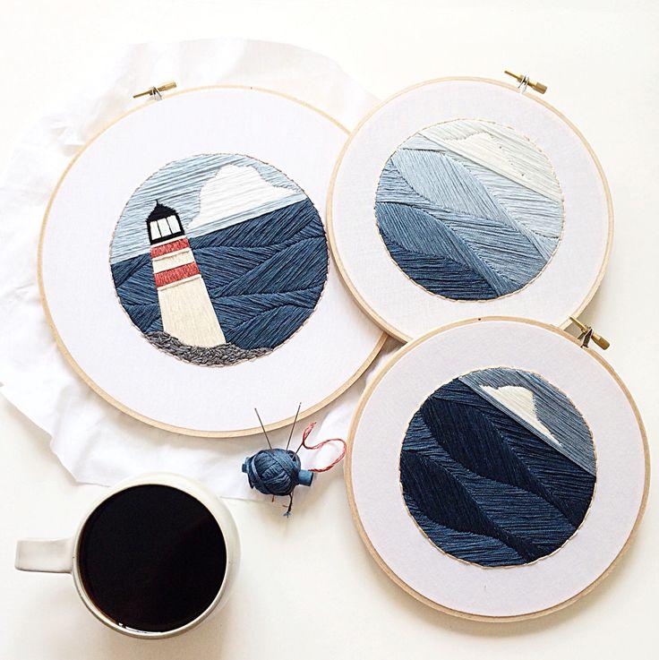 Nautical embroideries by Sarah K. Benning