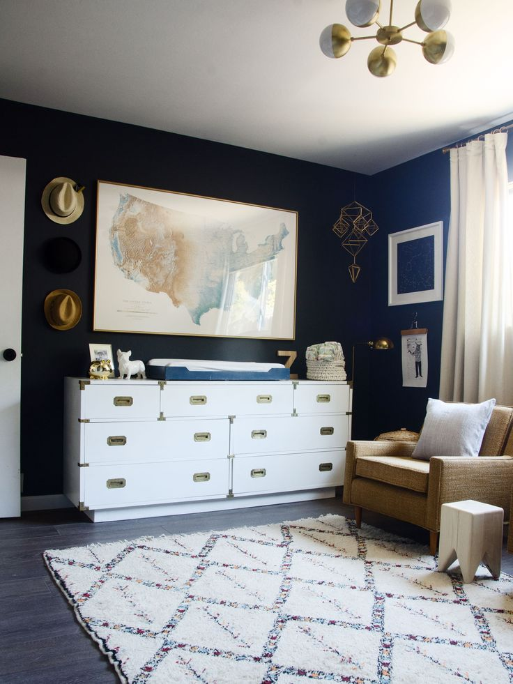 Modern neutral navy boy nursery | brittanyMakes
