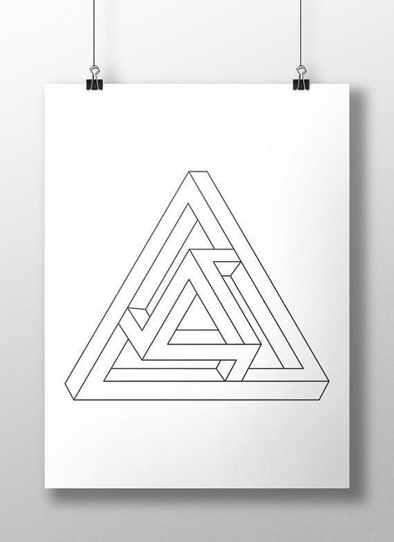 Las 25 mejores ideas sobre dibujo isometrico en pinterest - Figuras geometricas imposibles ...