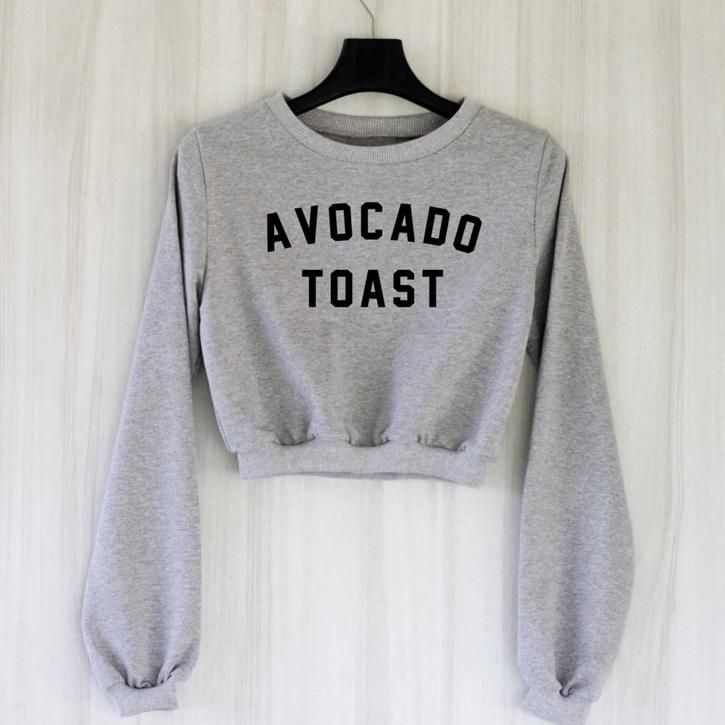 Avocado Toast Crop Top Sweatshirt