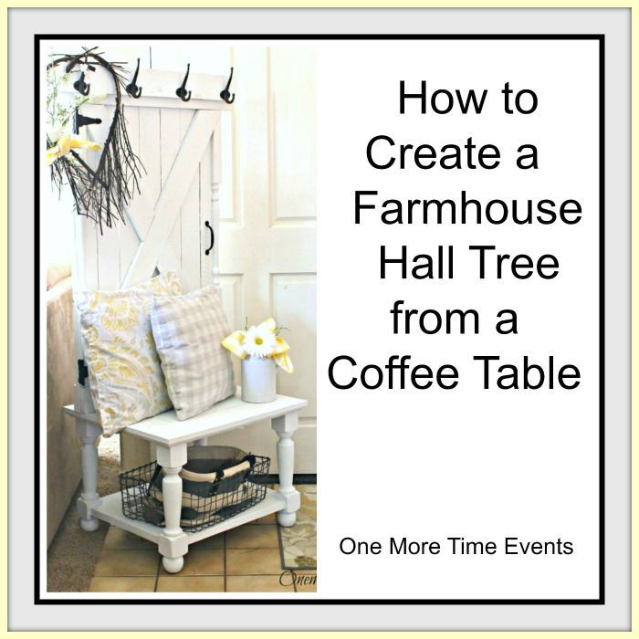Farmhouse Hall Tree:The Fab Furniture Flippin' Contest :http://www.onemoretimeevents.com/2015/05/farmhouse-hall-treethe-fab-furniture-flippin-contest.html