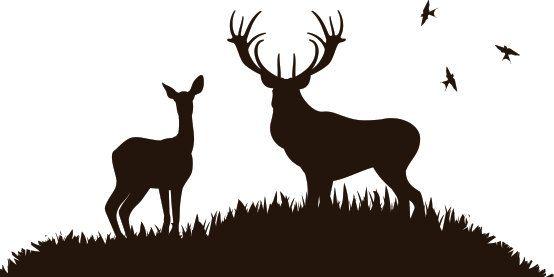 Deer Scene Wall Decal by WallJems on Etsy, $26.99