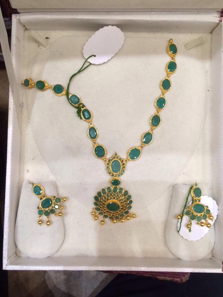 South Indian emerald necklace