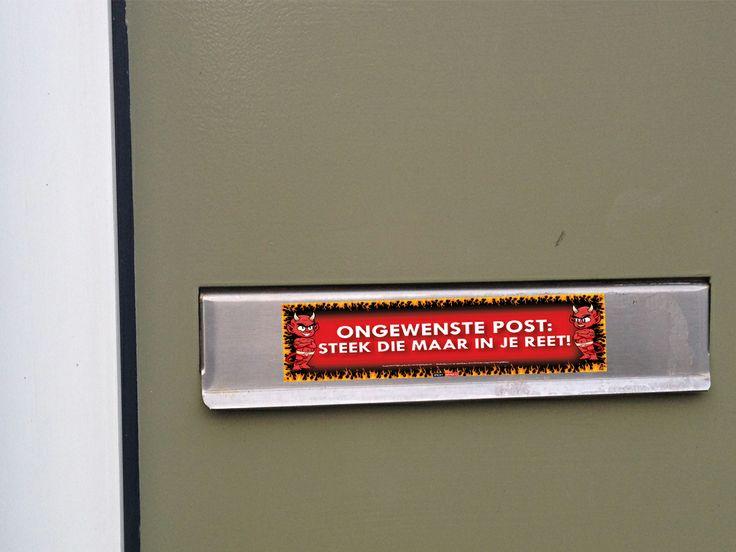 Werkt een Nee - Nee sticker niet? Dan is deze sticker handig voor op je brievenbus!