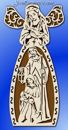 free scrollsaw nativity scene patterns | Scroll Saw Patterns :: Religious Inspirational :: Angels :: Large ...
