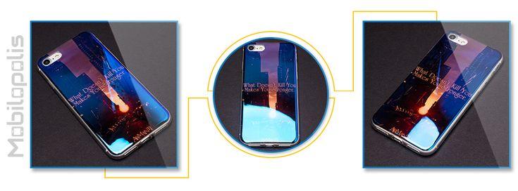 Extra lesklý silikonový kryt na iPhone 7 - iRaptor Series Blue Chrome SBC10108