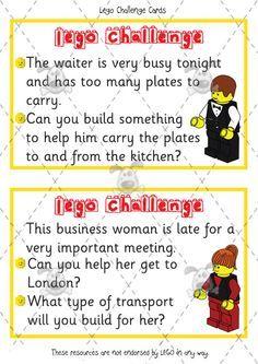 lego challenge cards ks1 - Google Search
