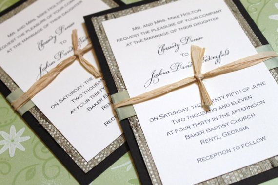 Rustic Wedding Invitation Woven Fiber Paper by decadentdesigns, $5.75