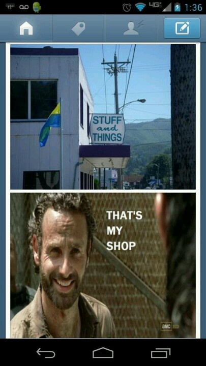 The walking dead rick grimes stuff and things
