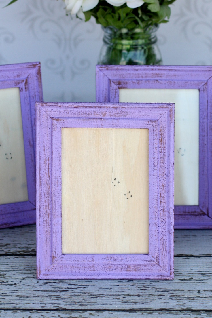 Distressed Painted Picture Frames