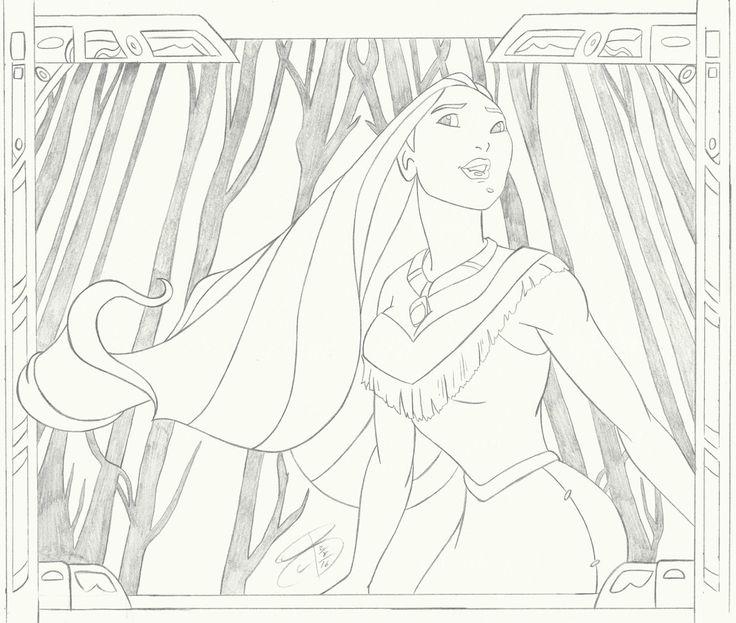 Les 73 Meilleures Images Du Tableau Coloriage Pocahontas Sur